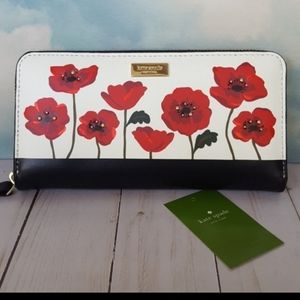 Kate Spade Black/White/Red Oh La La Poppy Wallet